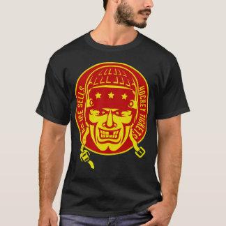 Namen-u. Zahl-Rückseiten-Druck, rotes T-Shirt