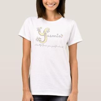 Namensbedeuteny Monogrammherzen Yasmin-Mädchen T-Shirt