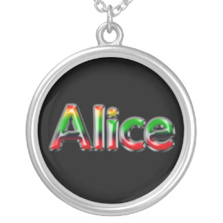 Namenshalskette ~ Alice ~ Versilberte Kette