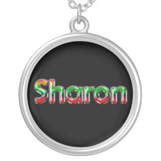 Namenshalskette ~ Sharon~ Versilberte Kette