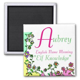 Namensmagnet-Bedeutung, Aubrey: Elf-Wissen Quadratischer Magnet