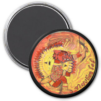 Naolin Farbe - fantastischer Mexiko-Magnet Runder Magnet 7,6 Cm