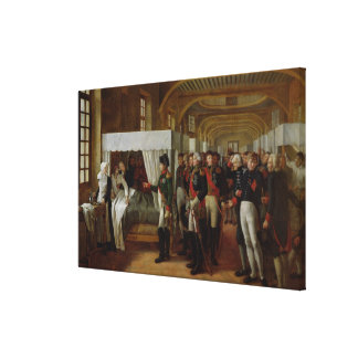 Napoleon, der das Krankenhaus von Invalides besich Gespannte Galeriedrucke
