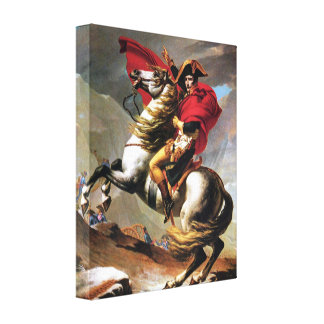 Napoleon, der den Alpen-Leinwand-Druck kreuzt Gespannter Galerie Druck