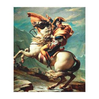 Napoleon, der die Alpen durch Jacques-Louis David Leinwanddrucke