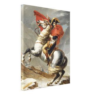 Napoleon, der die Alpen - Jacques-Louis David über Leinwanddrucke
