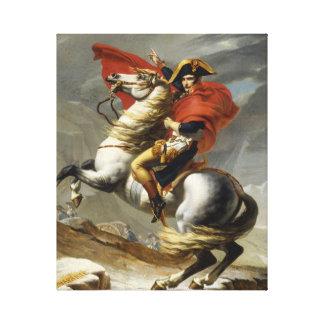 Napoleon, der die Alpen überquert Leinwanddruck