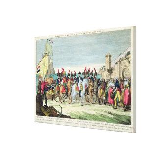 Napoleon, der für Golf Juan, am 1. März 1815 verlä Galerie Faltleinwand