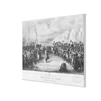 Napoleon I zurückgehend von Elba Galerie Faltleinwand