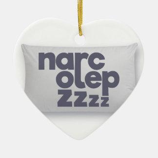 Narcolepsy zzz keramik Herz-Ornament