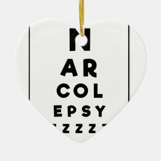 Narcolepsy ZZZZ Keramik Herz-Ornament