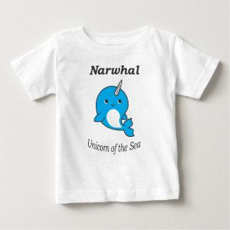 Narwhal Einhorn des Meeres für Jungen und Mädchen Baby T-shirt