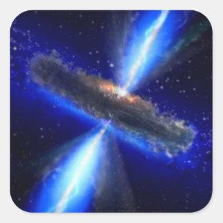 NASAs schwarzes Loch ist zum Kotzen alles Ae01f Quadratischer Aufkleber