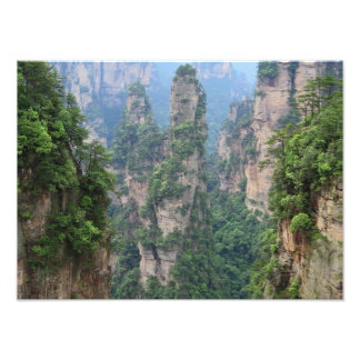 Nationale Forest Park Avatara-Berge Zhangjiajie Fotodruck