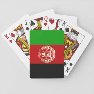 Nationale Weltflagge Afghanistans Spielkarten