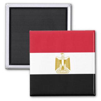 Nationale Weltflagge Ägyptens Quadratischer Magnet