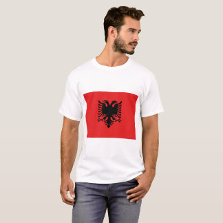 Nationale Weltflagge Albaniens T-Shirt