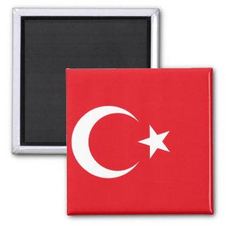 Nationale Weltflagge der Türkei Quadratischer Magnet