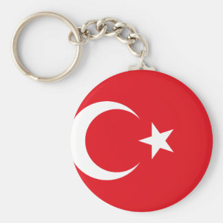 Nationale Weltflagge der Türkei Schlüsselanhänger