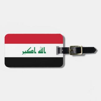 Nationale Weltflagge des Iraks Kofferanhänger