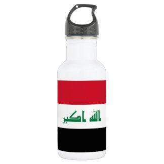 Nationale Weltflagge des Iraks Trinkflasche
