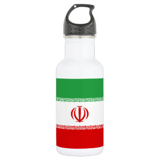 Nationale Weltflagge des Irans Trinkflasche
