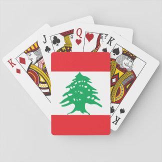 Nationale Weltflagge des Libanons Spielkarten