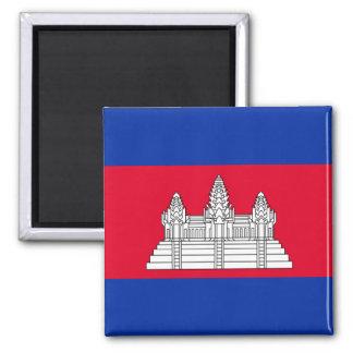 Nationale Weltflagge Kambodschas Quadratischer Magnet