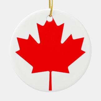 Nationale Weltflagge Kanadas Keramik Ornament