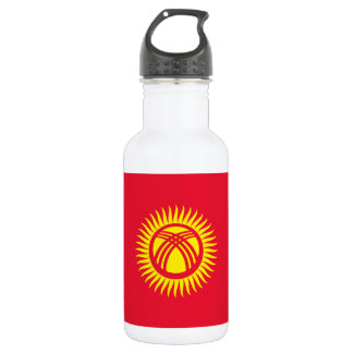 Nationale Weltflagge Kirgisistans Trinkflasche