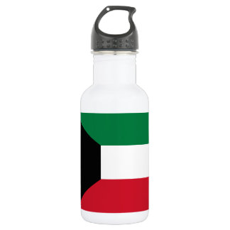 Nationale Weltflagge Kuwaits Trinkflasche