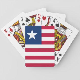 Nationale Weltflagge Liberias Spielkarten