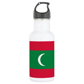 Nationale Weltflagge Malediven Trinkflasche