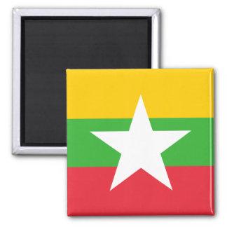 Nationale Weltflagge Myanmars Quadratischer Magnet