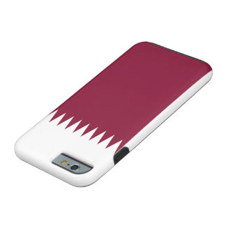 Nationale Weltflagge Qatars Tough iPhone 6 Hülle