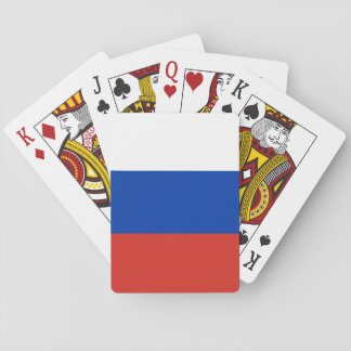 Nationale Weltflagge Russlands Pokerkarten