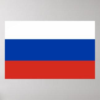 Nationale Weltflagge Russlands Poster