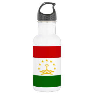 Nationale Weltflagge Tadschikistans Trinkflasche