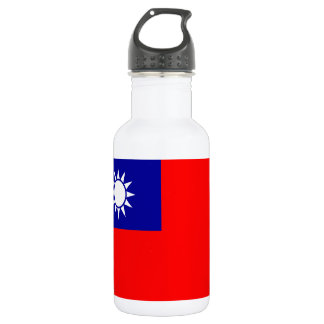 Nationale Weltflagge Taiwans Trinkflasche