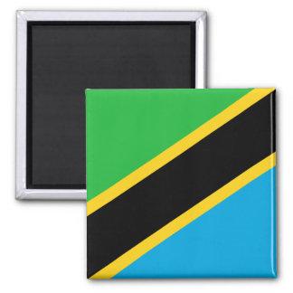 Nationale Weltflagge Tansanias Quadratischer Magnet
