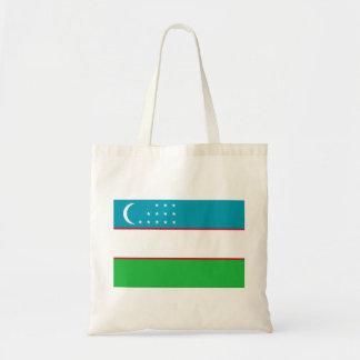 Nationale Weltflagge Usbekistans Tragetasche