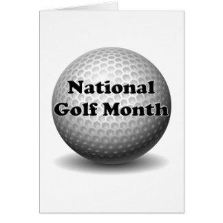 Nationaler Golf-Monat Karte