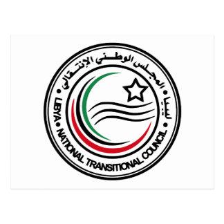 Nationaler Übergangsrat von Libyen-Siegel Postkarte
