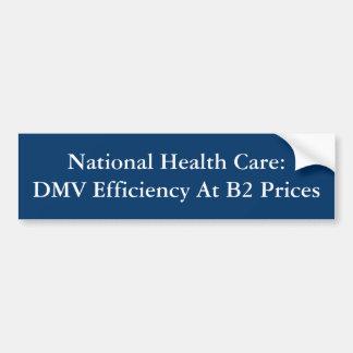 Nationales Gesundheitswesen: DMV Leistungsfähigkei Autoaufkleber
