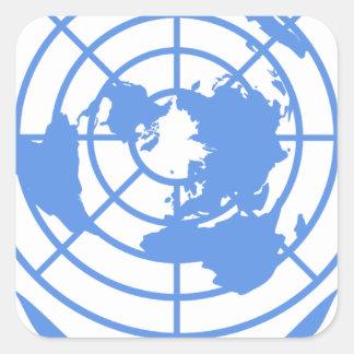 Nationens-Emblem Quadratischer Aufkleber