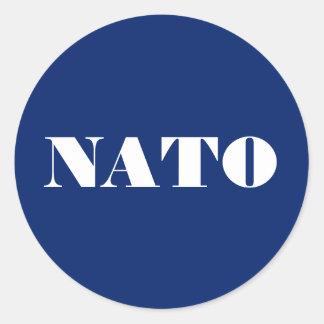 NATO-Aufkleber Runder Aufkleber