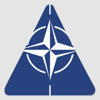 NATO-Flagge Dreieckiger Aufkleber