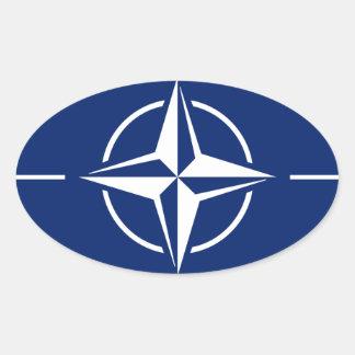 NATO-Flagge Ovaler Aufkleber