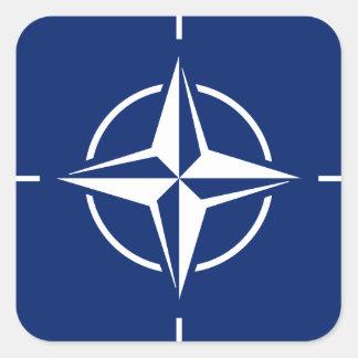 NATO-Flagge Quadratischer Aufkleber