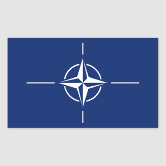 NATO-Flagge Rechteckiger Aufkleber